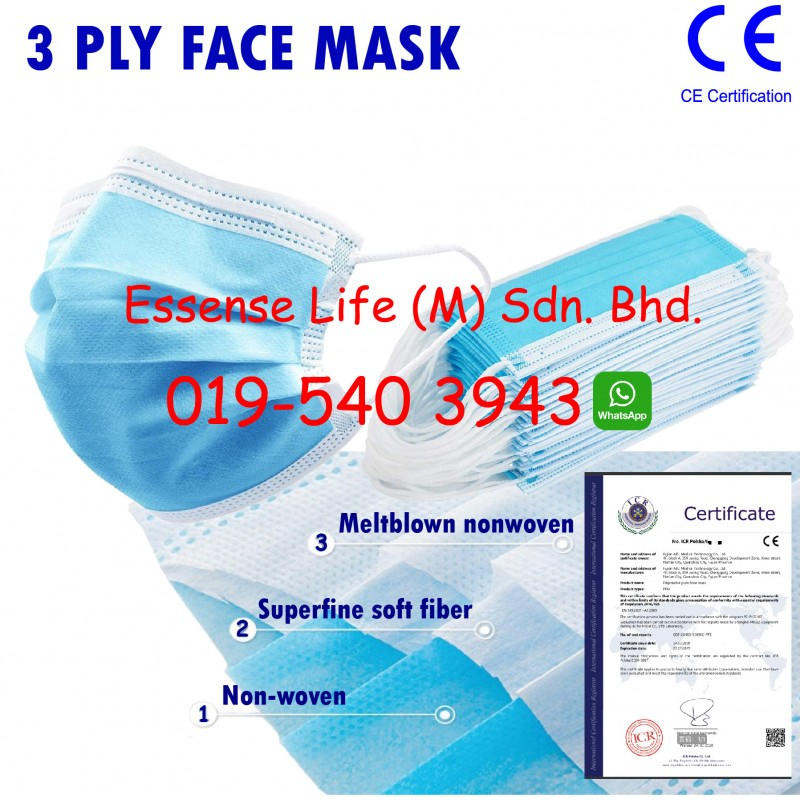 3 Layer Face Mask